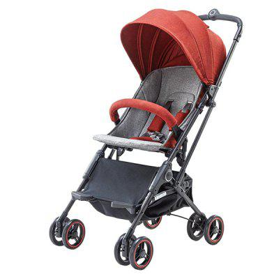 Xiaomi Zhixing KS1701 pliable Baby Stroller BEAN RED