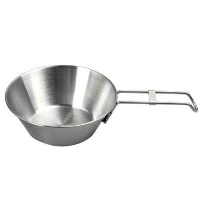 Campleader Outdoor Bowl with Folding Handle for Camping