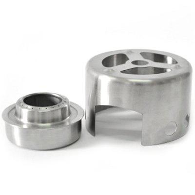 Campleader Stainless Steel Alcohol Round Stove with Cover