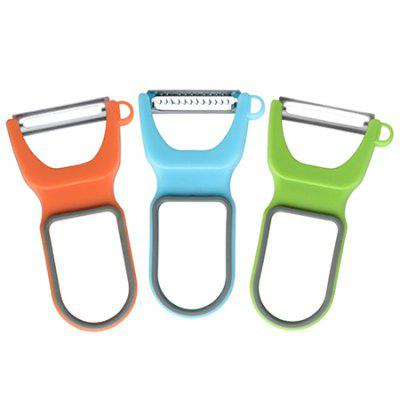 Vegetable Fruit Peeler Shredder Cutter 3pcs / Pack multi functional portable slicer peeler shredder white