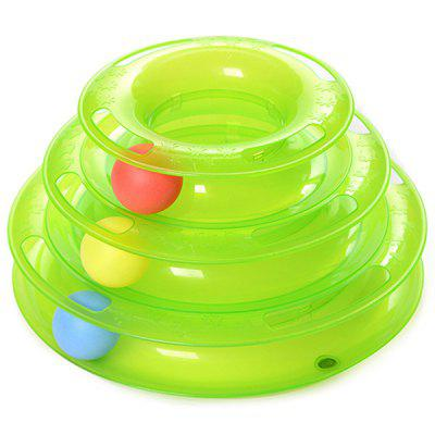 Cat Three Layer Turntable Round Toy for Pet