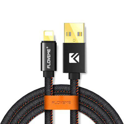 FLOVEME Portable Denim USB Cable with 8 Pin Plug 2m