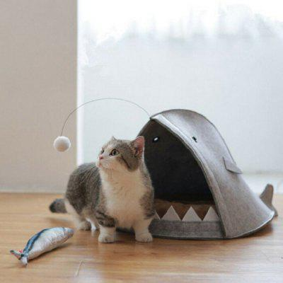 Removable Soft Shark Shape Pet Bed