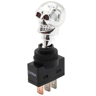 S3823 Skull Head Toggle Switch with LED Light