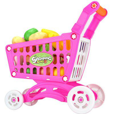 Simulation Supermarket Trolley Shopping Cart new arrival without original box house kitchen cart barbecue kitchen cart simulation role playing best early education toys
