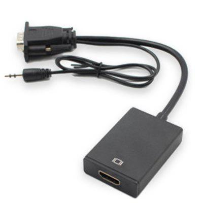 Male VGA to Female HDMI with Audio Converter Cable шины michelin primacy hp 275 45 r18 103y
