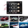 IZTOSS S3648 3 Buttons Switch Panel with LED Light for Car / RV / Yacht - BLACK