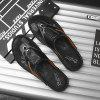 Men Outdoor Breathable Slippers - BLACK
