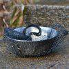 Campleader Outdoor Bowl with Folding Handle for Camping - SILVER
