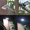 48 LED Solar Wall Induction Light Control Emergency Lamp - BLACK