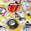 PVC Waterproof Different Pattern Sticker 100pcs - MULTI