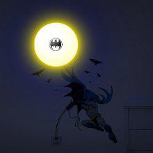 E14 LED Lamp 3D Batman DIY Wallpaper for Bedroom