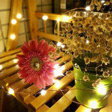 Solar Copper Wire String LED Light Waterproof Decor Lamp