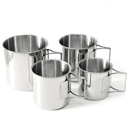 Campleader Outdoor Stainless Steel Portable Cups 4PCS
