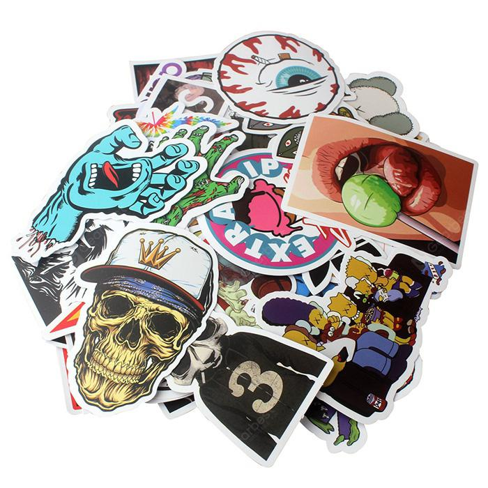 PVC Waterproof Different Pattern Sticker 100pcs