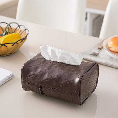 PU Leather Tissue Box for Living Room Car Kitchen