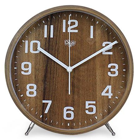 1701J16.DW 8 inch Retro Mute Desk Clock