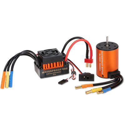 3650 3900KV Motor + 60A Brushless ESC waterproof 60a esc f540 10t 3930kv brushless motor fits for 1 10 drift rc car racing bm88