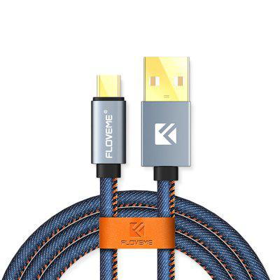 FLOVEME Light Denim USB Cable with Type-C Plug 1m