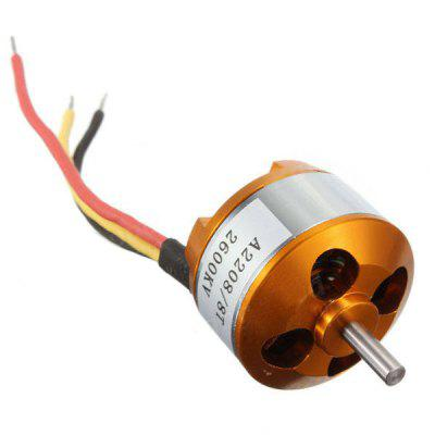 A2208 2600KV Motor for 1/10 RC Car Truck motor fixed seat for traxxas x maxx 1 5 monster truck rc