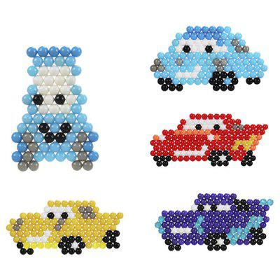 DIY Vehicle Set Water Fuse Beads Block Toys jie star fire ladder truck 3 kinds deformations city fire series building block toys for children diy assembled block toy 22024