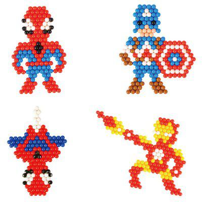 DIY Hero Design Water Fuse Beads Block Toys 1200pcs jie star fire ladder truck 3 kinds deformations city fire series building block toys for children diy assembled block toy 22024