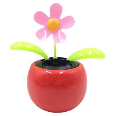 Car Decoration Solar Power Dancing Flower