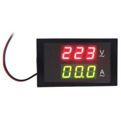 TS-DL85-2042 Mini AC 80-300V LED Panel Voltage Meter Ammeter Digital Dual Display with Current Transformer