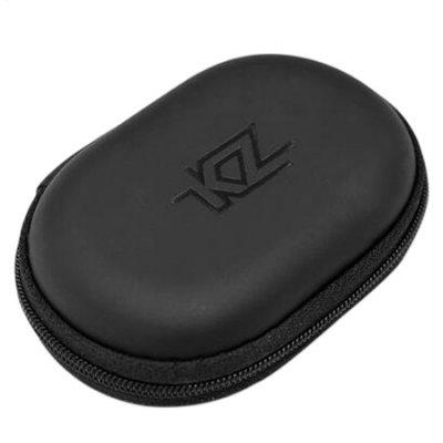 Original KZ PU Leather Earphone Bag Earbuds Storage Box 1pc hold case storage carrying hard bag box for earphone headphone earbuds memory card black blue red pink color