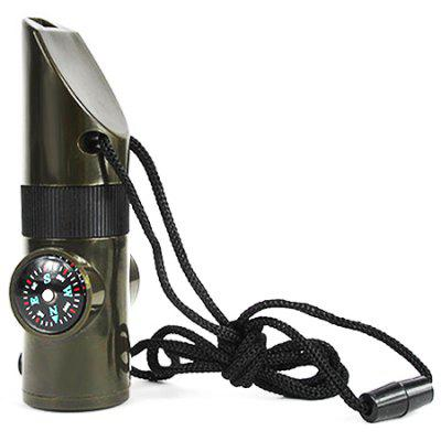 7 in 1 Outdoor Multifunctional Whistle with Compass Thermometer