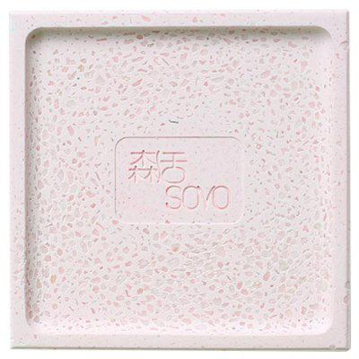Natural Diatomite Soap Holder Square Draining Box candy color double grid lid waterproof soap box creative drain soap holder