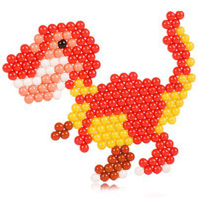 DIY Dinosaur Design Water Fuse Beads Block Toys jie star fire ladder truck 3 kinds deformations city fire series building block toys for children diy assembled block toy 22024