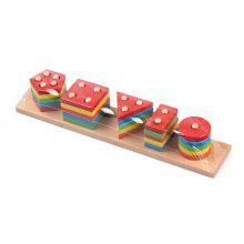 Wooden Geometric Shape Matching Building Block