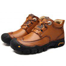 Men Outdoor Breathable High-top Casual Leather Shoes