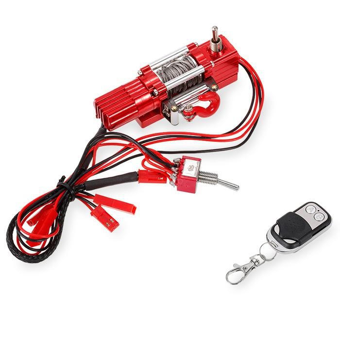 RC4WD Metal Winch with Transmitter -  Ruby Red