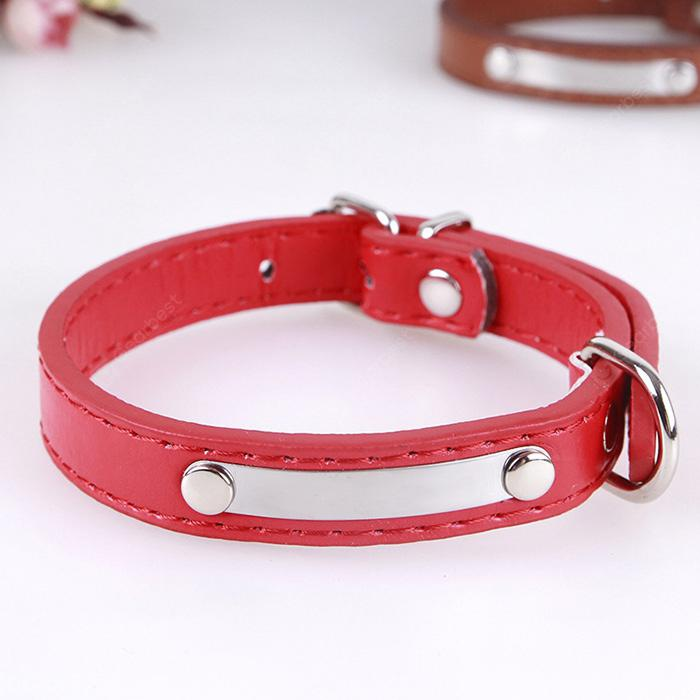 Adjustable PU Leather Pet Collar