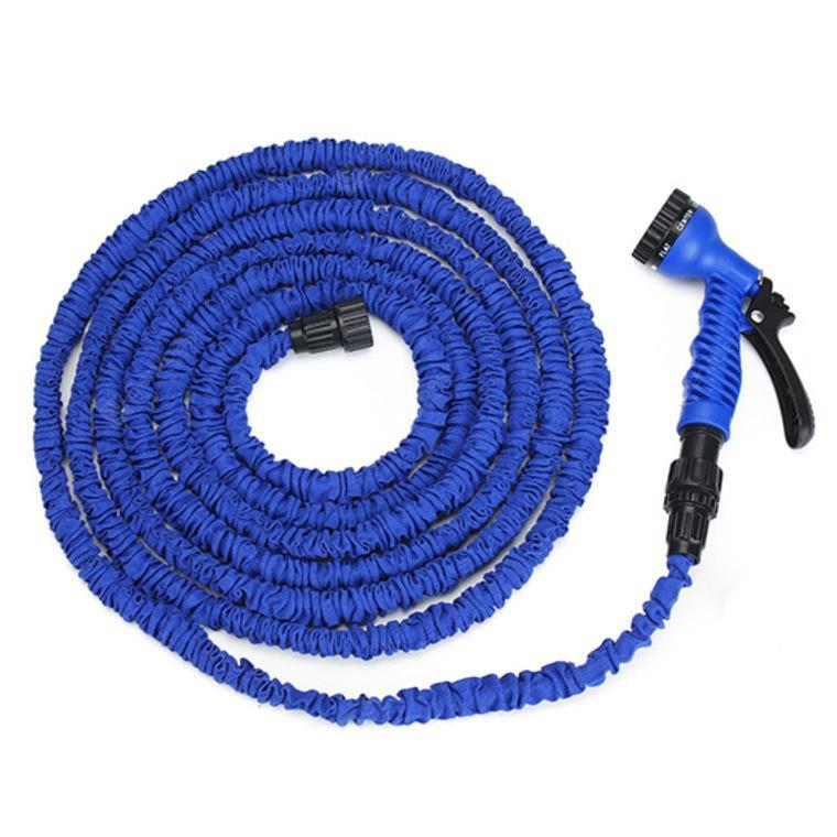 25FT Telescopic Flexible Hose High Pressure Pipe with Water Gun