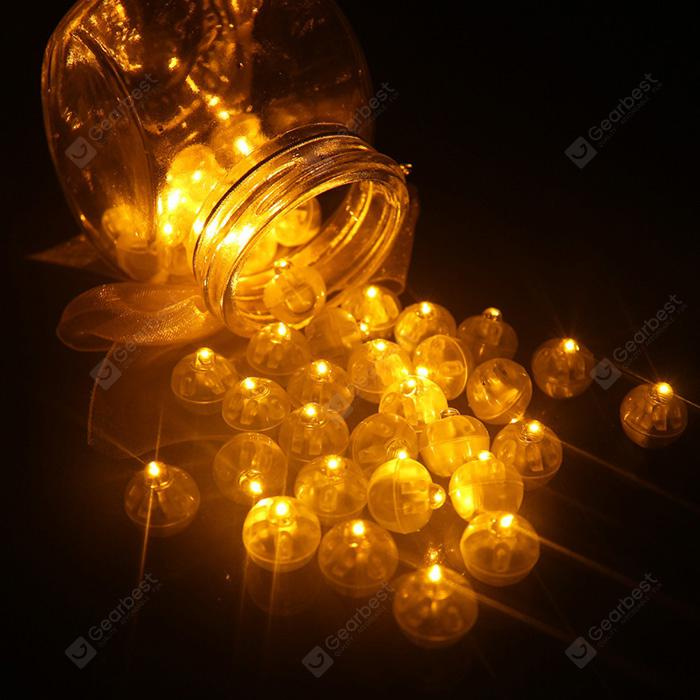 Small Ball Light LED Balloon Lamp 50pcs BRIGHT YELLOW