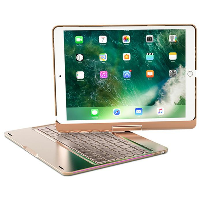 F360S 360 Rotatable Bluetooth Keyboard Case for iPad Pro 10.5 inch - Champagne Gold