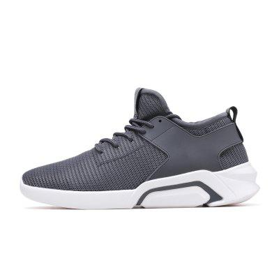 Men Fashion Antiskid Sports Sneakers nt00017 5 men s five pointe star pattern fashion sports leisure sneakers dark blue 44 pair