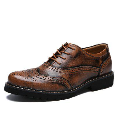 Men Casual Breathable Comfort Leather Shoes cie round toe mackay blake custom handmade calf genuine leather outsole breathable men s casual oxfords color purple shoe ox519