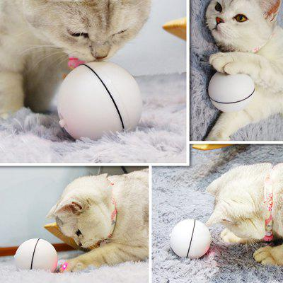 Cat Toy LED Laser Electric Rolling Ball playful chasing and rolling beaver ball 2 aa