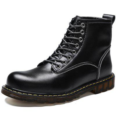 Men Anti-slip Breathable Outdoor Casual Martin Boots mycolen brand boots breathable slip on chelsea boots genuine leather male wear boots fashion casual man military shose sapatos