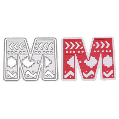 Delicate DIY Capital Letter M Style Cutting Die