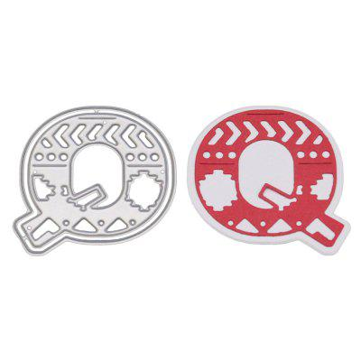 Delicate DIY Capital Letter Q Style Cutting Die
