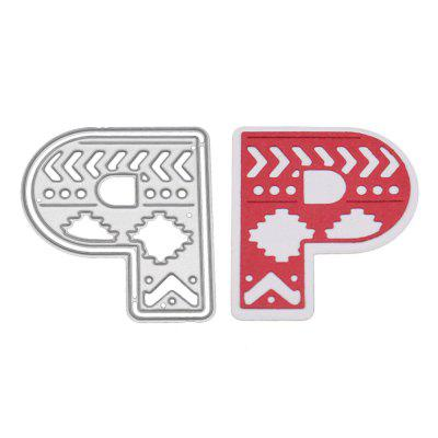 Delicate DIY Capital Letter P Style Cutting Die