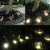 8 LED Solar Power Bodenleuchte Outdoor Decking Lampe - SILBER