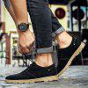 Leather Fashion Casual  Men Shoes - BLACK