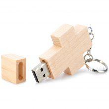 Maikou Cross Wood U Disk USB Flash Drive 64GB