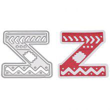 Delicate DIY Capital Letter Z Style Cutting Die